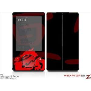 Zune 80/120GB Skin Kit   Oriental Dragon Red on Black plus Free Screen