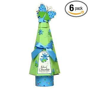 Dark Chocolate Cocoa, 2 Ounce Topiary Gift Boxes with Blue Ribbon