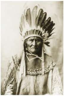 GERONIMO Native American INDIAN CANVAS Photo Art LARGE