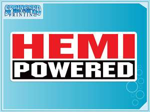 HEMI POWERED vinyl decal sticker Dodge Ram Truck Racing