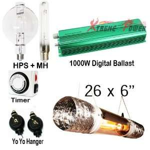 1000 750 600 watt ballast dimmable digital grow light cool
