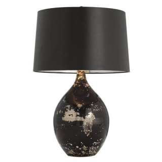 Mercury/Black Reactive Glass Art Deco Table Lamp