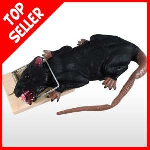 Animated Moving RAT STUCK IN TRAP Halloween Prop Haunted House