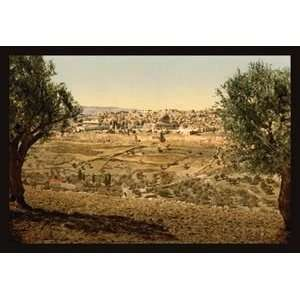 View from the Mount of Olives   Paper Poster (18.75 x 28.5