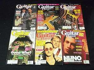 GUITAR PLAYER MAGAZINE LOT OF 7 ISSUES   MUSIC MAGAZINES   L289