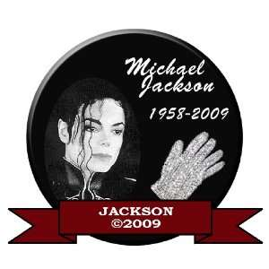 MICHAEL JACKSON MEMORIAL BUTTON PIN 1958 2009 #3