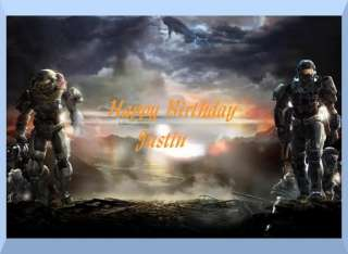 Halo Reach edible cake image topper  1/4 sheet
