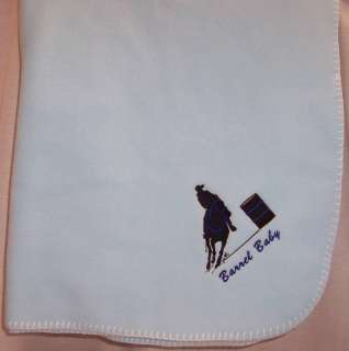 Barrel Racing Racer Fleece Baby Blanket MORE COLORS