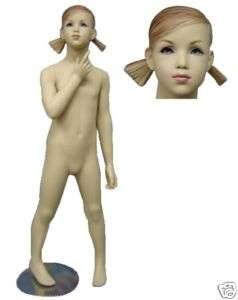 Fiberglass Child  Size 7 Girl Mannequin