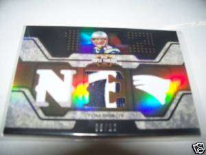 Tom Brady 2007 TOPPS Triple ThreadS 3 Color Jersey Patch Card #ed to 6