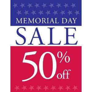 Memorial Day Sale Red White Blue Sign