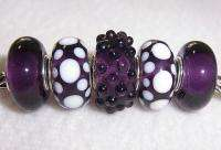 Special Purple Murano Glass Beads fit European Charm Bracelet b144