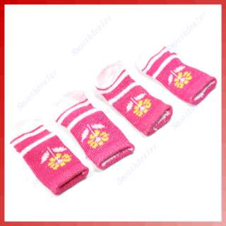 4Pcs Cotton Warm Soft Dog Cat Puppy Dogs Pet Knits Socks Anti slip
