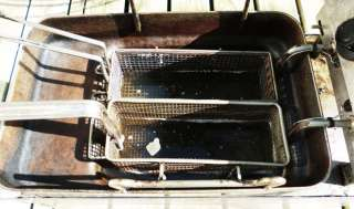 Countertop FRYER Stainless Steel w/Baskets ~ Oil Deep Fryer
