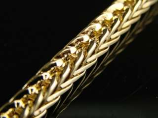 MENS YELLOW GOLD FINISH 6MM FRANCO/CHEVRON CHAIN 38