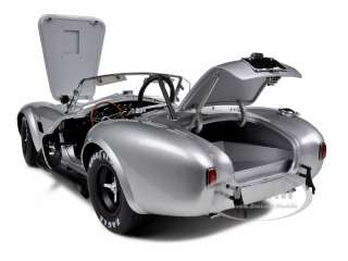car model of Shelby Cobra 427 S/C Silver die cast car by Kyosho