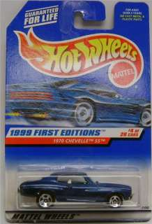 1970 CHEVY CHEVELLE SS BLUE DIECAST HOT WHEELS 164