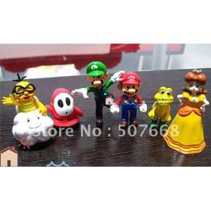 super mario bros action figure toy doll 50set/lot lot Toys & Games