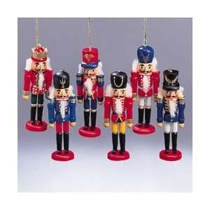 Club Pack of 36 Colorful Wooden Nutcracker Soldier
