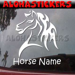 Custom TRIBAL PONY HORSE MUSTANG Car Decal Sticker T42C