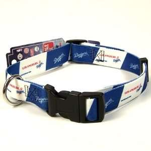 LOS ANGELES DODGERS ADJUSTABLE NYLON DOG PET COLLAR SZ M