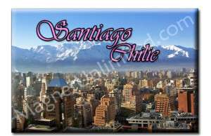 Skyline Santiago   Chile Souvenir Fridge Magnet #4
