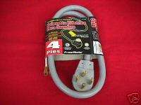 Extra Heavy Duty Dryer Cord 4 Feet 10 Gauge 30A/250V