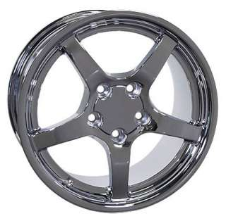 18 Rim Fits Corvette C5 Deep Wheel Chrome 18x9.5