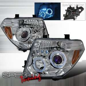 05 06 Nissan Pathfinder/ Frontier Projector Headlights   Chrome Blue