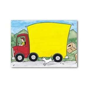 Masterpiece Moving Truck Flat Card   5.5 x 7.75   20