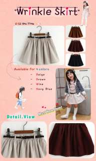NEW Vaenait Baby Toddler Kids Girl Korean Style Skirt & Belt Set