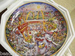 Franklin Mint McDonalds Golden Moments Plate by Bill Bell