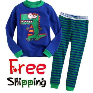 & Toddler Kids Boy Girl Sleepwear Pajama Set  Play with Dinosaur