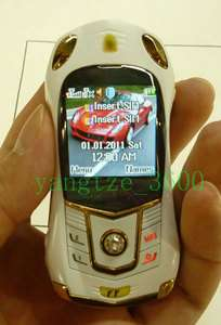 Unlocked Mini Super Sports car model Cell phone dual sim card quad