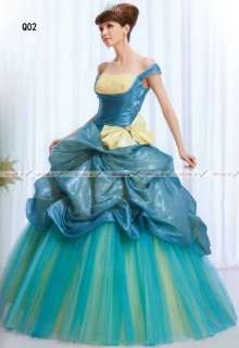 Off shoulder Quinceanera Ball Gown Ice Blue Prom Dress Womans Evening