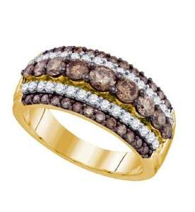 10K YELLOW GOLD CHOCOLATE DIAMOND BAND RING 1.59 CT