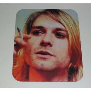 NIRVANA Kurt Cobain & a Cig COMPUTER MOUSEPAD Everything