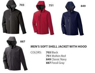NORTH END™ MENS SOFT SHELL JACKET WITH HOOD