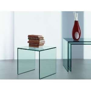 Trio Modern Glass Nesting Side Tables by Tonelli