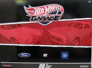 Hot Wheels GARAGE 2011 FORD vs GM Collectors Set 20 Cars NEW