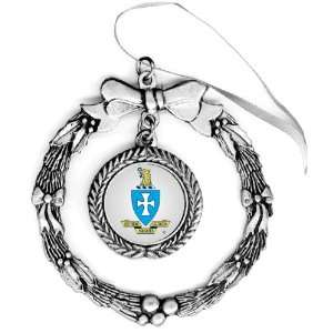 Sigma Chi Pewter Holiday Ornament