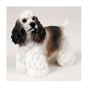 Cocker Spaniel Dog Figurine   Parti Brown