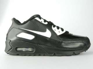 NIKE AIR MAX 90 GS NEW Boys Girls Youth Black White Shoes Size 4.5Y