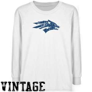Nevada Wolf Pack Youth White Distressed Logo Vintage T shirt