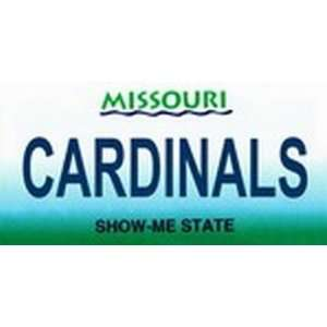 Missouri State Background License Plates   Cardinals Plate