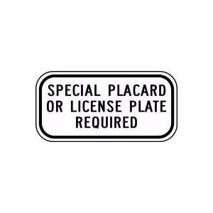 REQUIRED Sign 6 x 12 .080 Reflective Aluminum   ADA Parking Signs