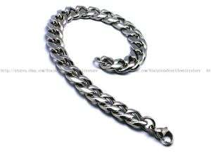 10mm x 8.25 Men Cool Heavy Curb Chain Stainless Steel Link Bracelet