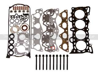 92 95 1.6 L Honda Civic D16Z6 Head Gasket Set + Bolts