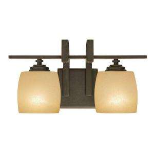 Hampton Bay 2 Light Bronze Bath Light 25106