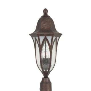 Outdoor Burnished Antique Copper Post Lantern HC0263